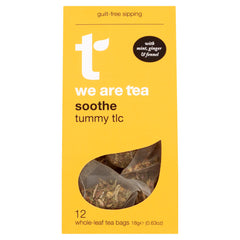 We Are Tea soothe digestive super tea ginger mint fennel caffeine free tea