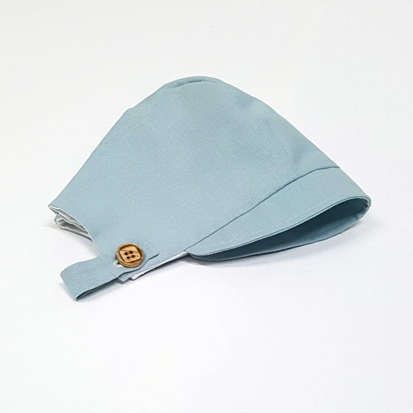 Bonnet in Dusty Blue Linen