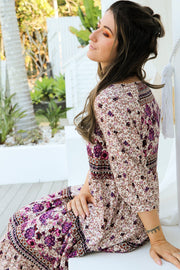 Amethyst Floral Boho Maxi Dress Feather Fox Boutique Gold Coast