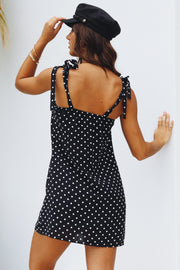Annaleise Black and White Dress Womens Clothing