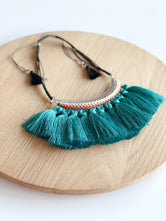 Aqua Fringe Necklace