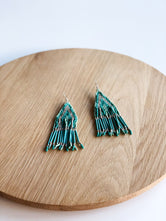 Aqua Green Beaded Earrings