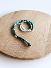 Aqua Green Beaded Necklace