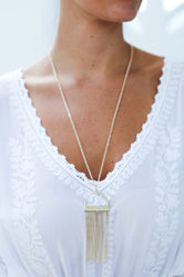 Arched Fine Fringe Women's Necklace