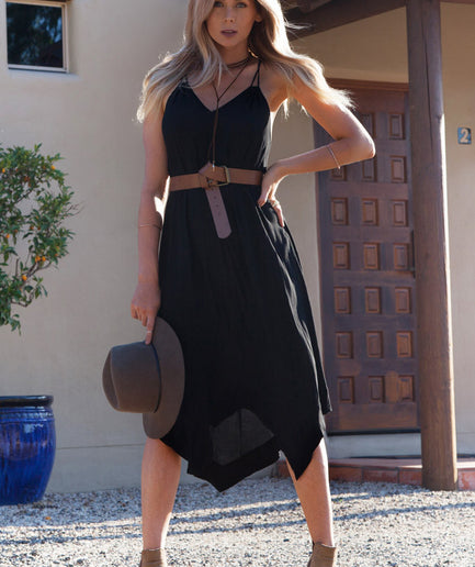 Black Hunter Boho Dress
