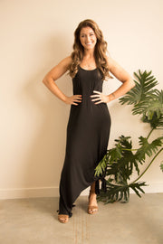 Black Bamboo Maxi Dress Feather Fox Boutique