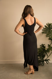 Black Bamboo Maxi Dress Feather Fox Boutique Gold Coast