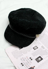 Black Conductor Corduroy Women's Cap