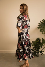 Black Floral Boho Maxi Dress Feather Fox Boutique Gold Coast Queensland Australia