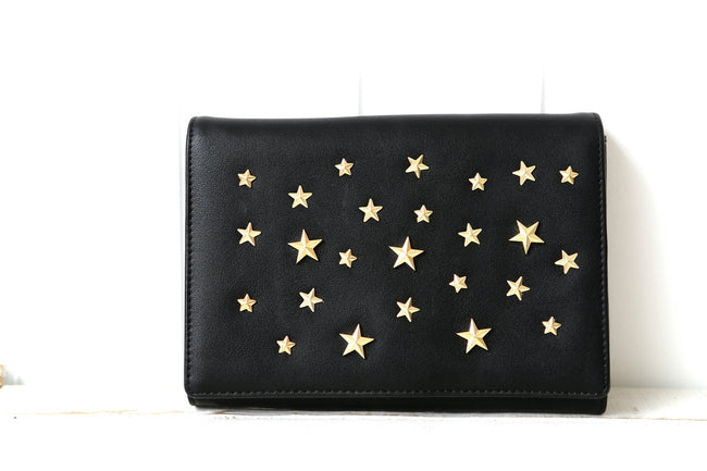 Black Star Stud Women's Clutch Bag