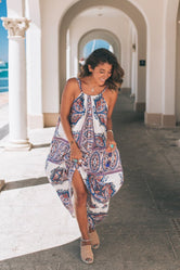 Blue Florence Gypsy Maxi Dress