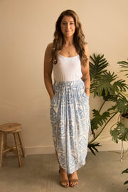 Blue Mosaic Summer Skirt Feather Fox Boutique Queensland