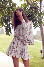Bohemian Flower Jasmine Short Dress