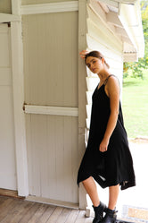 Hunter Black Boho Dress