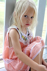 Burleigh Kids Boho Dress Melon