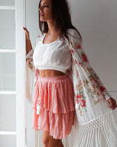 Burnt Ruse Cotton & Linen Gypsy Skirt