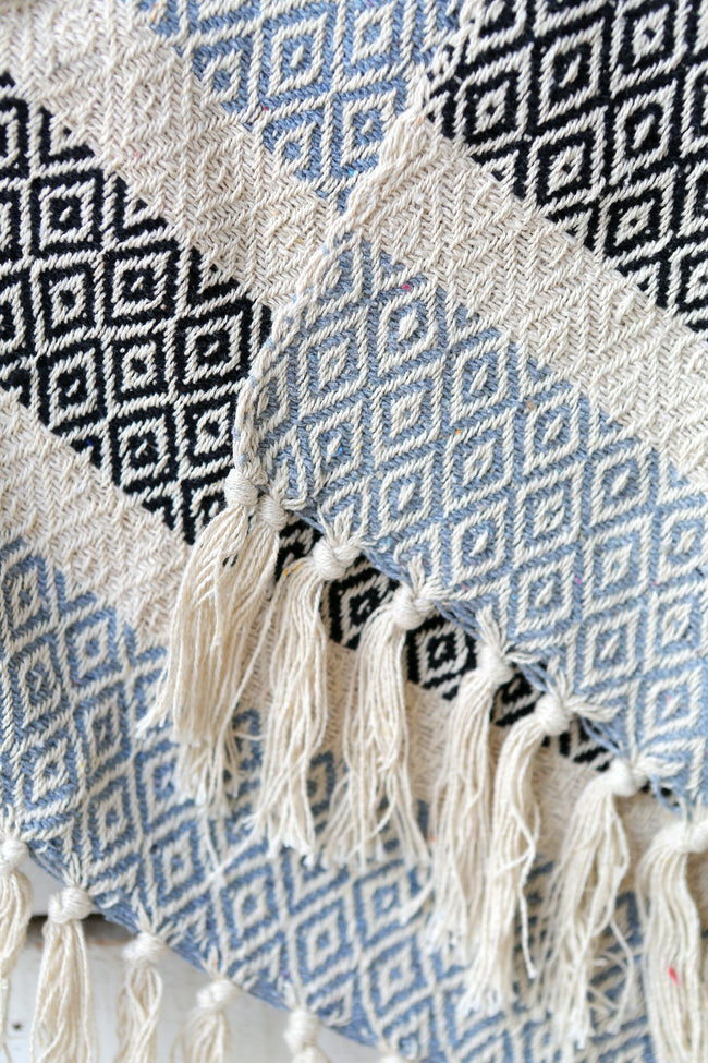 Diamond Blanket Boho Homewares Feather Fox