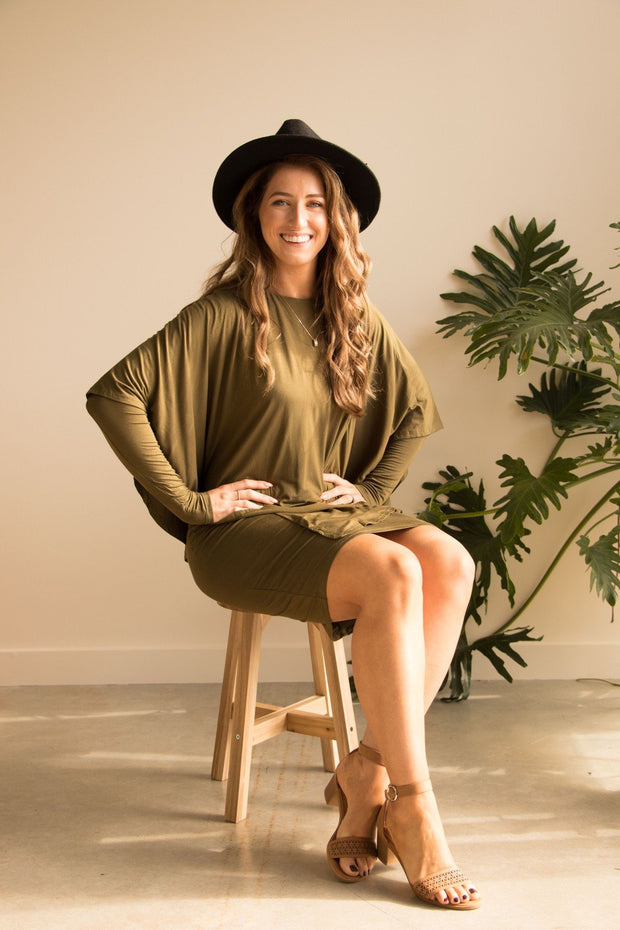 Forest Green Bamboo Dress - Feather Fox Boutique Australia