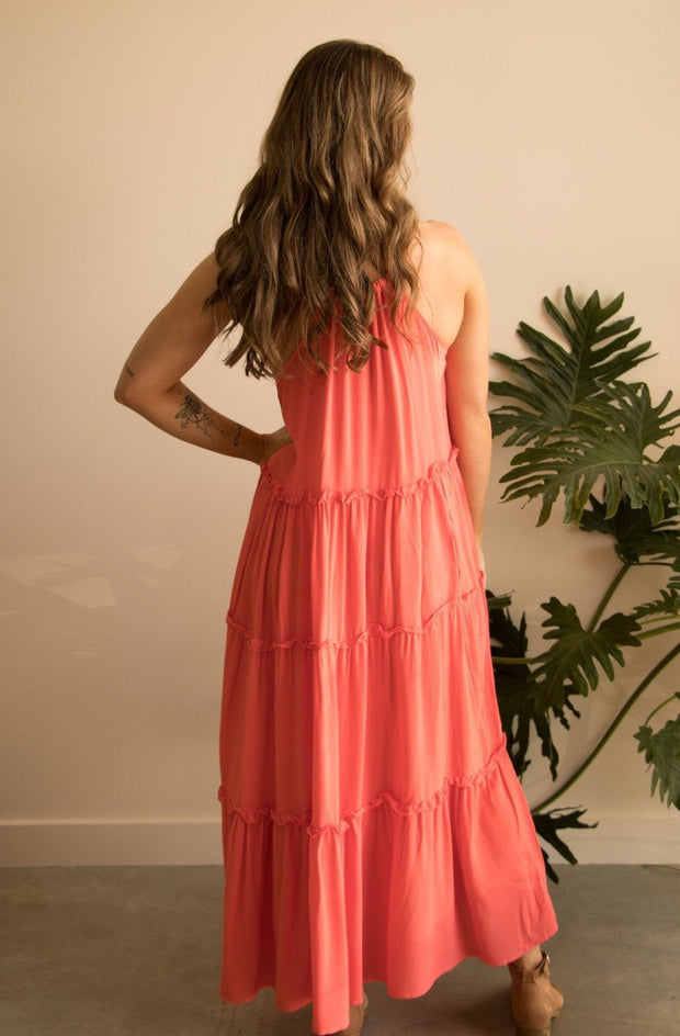 Fuscia Pink Holiday Dress Feather Fox Boutique Gold Coast Australia