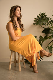 Gold Bamboo Maxi Dress Feather Fox Boutique Gold Coast, Queensland