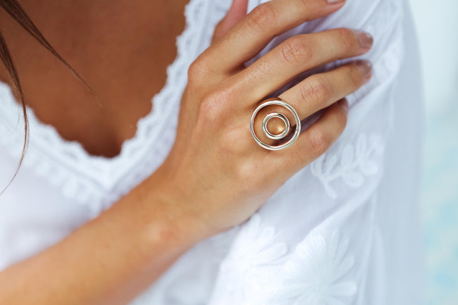 Gold Circular Women's Ring