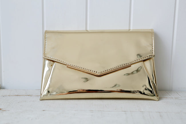 Gold Retro Clutch Bag