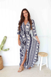 Gypsy Paisley Vintage Maxi Dress