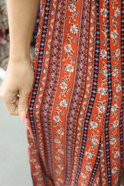 Gypsy Red Floral Pant Feather Fox Boutique