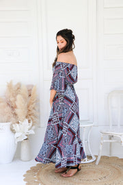 Kaleidoscope Boho Maxi Dress Feather Fox Boutique Gold Coast