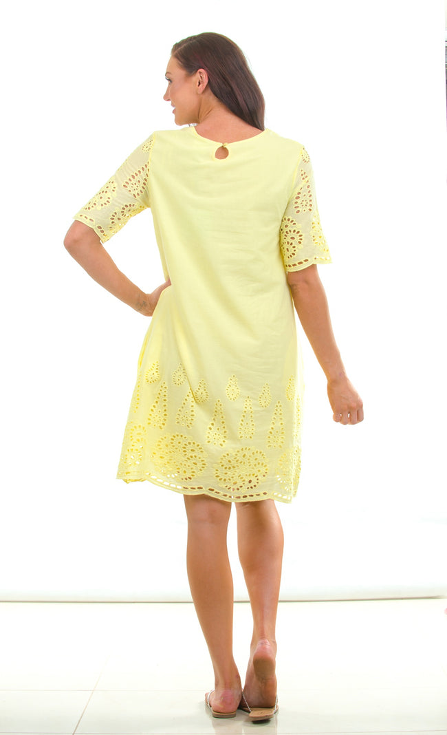 Lemon Lace Tunic Dress
