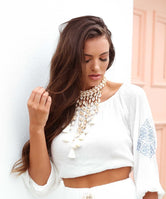 Marrakech Off-Shoulder Women's Top
