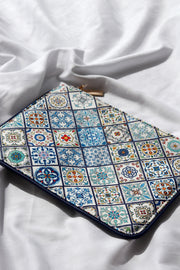 Mosaic Tile Vegan Leather Zip Pouch Feather Fox Boutique Burleigh Heads