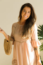 Mushroom Boho Dress Feather Fox Boutique