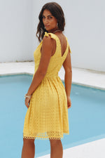 St Tropez Mustard Lace Dress