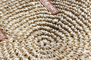 Womens Natural Round Straw Bag Feather Fox Boutique Australia