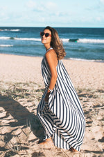 Navy & White Stripe Sorrento Maxi Dress Plus Size Maternity