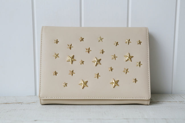 Nude Star Stud Clutch Bag