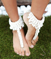 Boho Ocean Foot Jewel Seashell Sandals