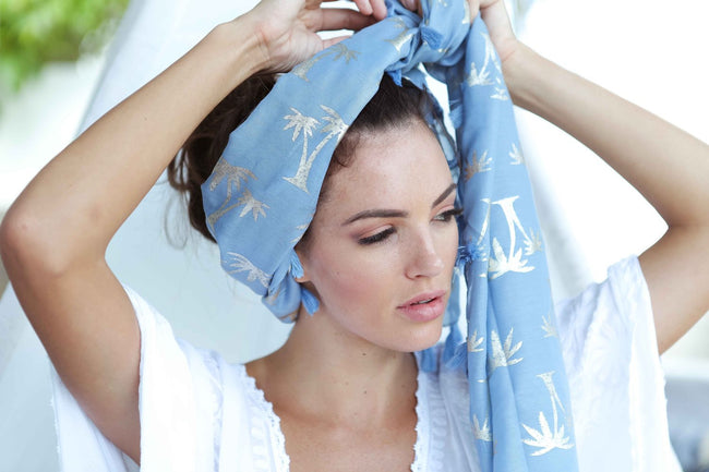 Palm Tree Womens Scarf Feather Fox Boutique