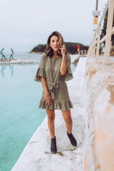 Penelope Dress in Khaki