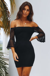 Portsea Black Lace Dress