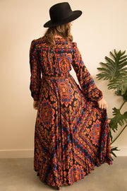 Pumpkin Spice Floral Boho Maxi Dress Feather Fox Boutique Gold Coast
