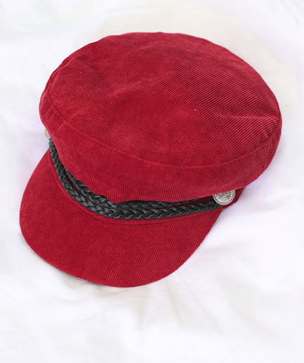 Red Conductor Corduroy Women's Cap