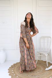Retro Summer Boho Maxi Dress Feather Fox Boutique Queensland