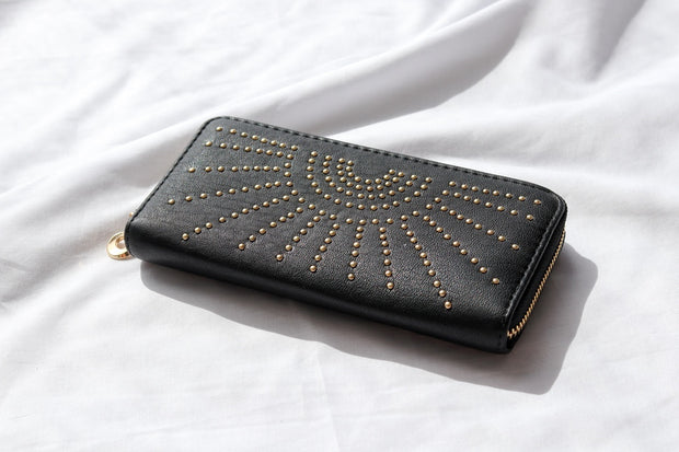 Starburst Boho Vegan Leather Wallet Feather Fox Boutique
