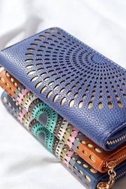 Sunrise Blue Vegan Leather Wallet Feather Fox Boutique Burleigh Heads