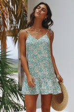 Tropical Floral Short Dress Womens Clothing Feather Fox