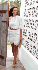 White Boho Wrap Detail Skirt Feather Fox
