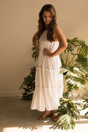 White Holiday Dress Feather Fox Boutique Australia