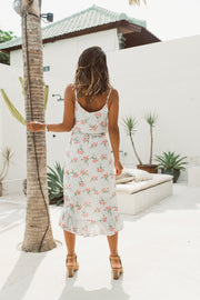 White Resort Floral Dress Feather Fox Boutique Gold Coast